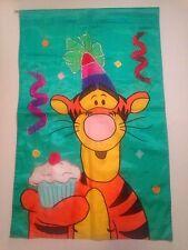 "Birthday Party Garden/ House Flag Tigger with Cupcake Disney Pooh 27"" x 43"""