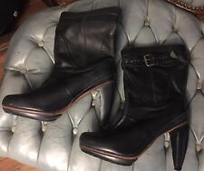 J.Shoes 'Claude' Black Leather Women's High Heel Ankle Boots Size 6 Hot!!!