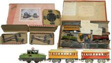 SUPER RARE FRENCH JEP 0-GAUGE ELECTRIC BOX CAB P.O. E.1 TRAIN SET W/PARTIAL BOX
