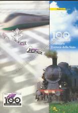 """Folder filatelico 106 - """"  100° FERROVIE DELLO STATO """" 2005"""