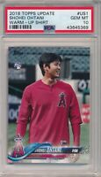 Shohei Ohtani 2018 Topps Update Series SP WARM UP US1 RC Rookie PSA 10