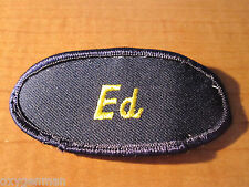 ED Uniform Name Tag Embroidered Cloth PATCH Service Station Biker Utility