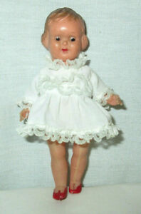 """Vintage Antique 5.25"""" Doll Made In Italy Molded Hair Celluloid"""