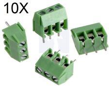 10 MORSETTI 3 POLI connettori circuito stampato morsettiera 3 pin 3.5mm H=9 PCB