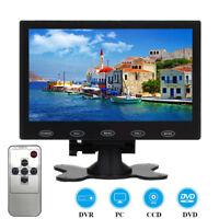 "7"" inch LCD CCTV Monitor HD PC Screen HDMI AV/RCA VGA 1080P Video w/ Speaker"