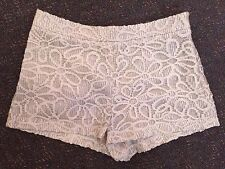 Topshop Cream/white Floral Daisy High Waisted Shorts - Size 8