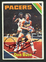 Don Buse #299 signed autograph auto 1975-76 Topps Basketball Trading Card