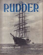 The Rudder September 1935 Diesel-Electric Auxiliary 4-Masted Barque 032917nonDBE