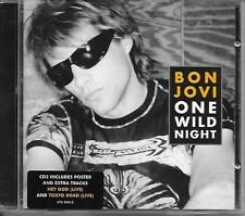 BON JOVI - One wild night (CD2) + POSTER CD SINGLE 3TR UK 2001