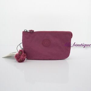 NWT New Kipling AC2084 Creativity L Large Accessory Pouch Polyamide Stone Purple