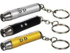 Lot of 3 Key Ring Laser Pointer Led Lights great Pet Cat Dog Toy 2 in1 3 colors