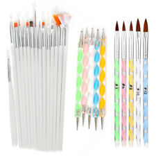 1-20 Nail Art UV Gel Design Acrylic Pen Painting Dotting Detailing Brushes Tools