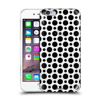 Custodia Cover Design Pois Nero Per Apple iPhone 4 4s 5 5s 5c 6 6s 7 Plus SE