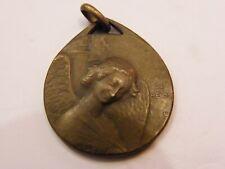 Médaille en Bronze St Rémi Ange de Reims O Yencesse Incendie Cathédrale 1914
