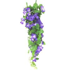 Artificiale Morning Glory Finale Spray-Viola Decorativa Fiori Estivi
