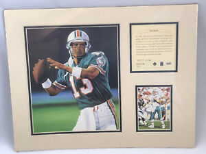 Vtg 1995 Dan Marino Miami Dolphins Matted Kelly Russell Lithograph Print #313