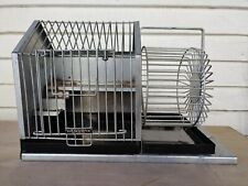 Rare Early American Hendryx Hamster Mouse Cage Running Wheel Antique Americana