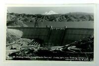 RPPC California Mt Shasta Overlooking Shasta Lake & Dam Real Photo Postcard