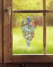 Fensterbild Sommerblumen echte Plauener spitze Inkl. Saughaken