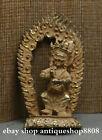 Collection Old Tibet Bronze Gilt  Mahakala Wrathful Deity Buddha Flammule Statue