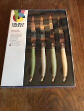 Colourworks Classics 4 Pc Stainless Steel Steak Knife Set Brand New And Sealed