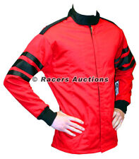 Medium Red Single Layer Driving Jacket Fire Race SFI 3.2A Rated