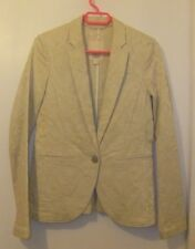ESPRIT Giacca Aderente in DAMASCO CREMA, taglia UK 12 (mai indossato) Smart Casual
