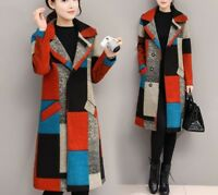New Womens Winter Thick Warm Wool Blend Coat Parka Trench Long Jacket Outwear