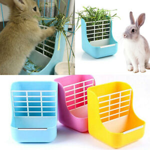 2 in 1 Pet Fixed Hay Frame Feeder Small Animal Supplies Rabbit Chinchillas