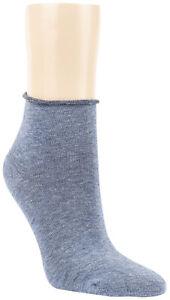 Kurzstrumpf Rollrand Socken 35-38 o. 39-42 als 12/6 Paar Jeansfarben Damen