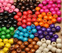 50pcs 100pcs wood beads big hole charms Wooden loose bead 12 colors u pick 12mm