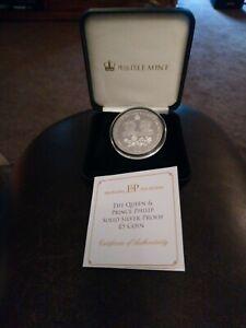 2016 Tristan Da Cunha Silver Proof £5 Coin Queen Elizabeth 11 90th & Prince...