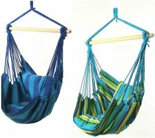 Sunnydaze Hanging Hammock Chair with Two Cushions - Set of 2 - Oasis Ocean