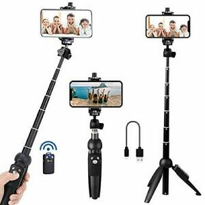Portable 40 Inch Aluminum Alloy Selfie Stick Phone Tripod with Wireless Remot...