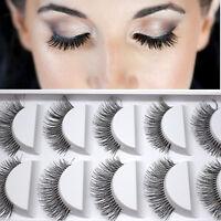 5 Paar Natürliche lange falsche Wimper Augen Wimper Verlängerungs Makeup Schwarz