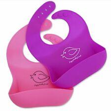 Silicone Baby Bibs Easily Wipe Clean! Comfortable Soft Waterproof Bib Keeps Sta