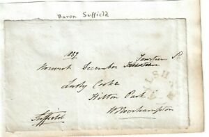Edward Vernon Harbord, 4th Baron Suffield  Signed Free Front 1837