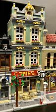 LEGO CUSTOM MODULAR GAME SHOP connects with 10185 for city train MOC 534