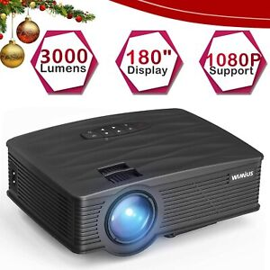 Mini Portable Projector LCD 2600 Lumens Backlight Projector Support Full HD 1080