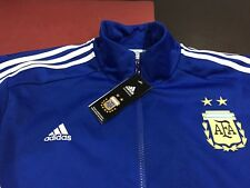 MENS ADIDAS ARGENTINA NATIONAL TEAM TRACK JACKET TOP BLUE  2XL NWT