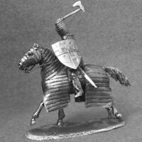 Toy Soldiers Medieval 1/32 scale Mounted Knight with Axe Cavalry 54mm Miniature
