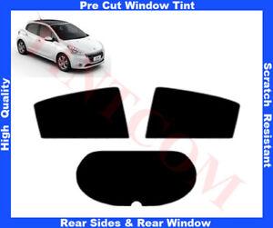 Peugeot 208 5D 2012-...Pre-Cut Window Tint 5%-50% Rear Window & Rear Sides