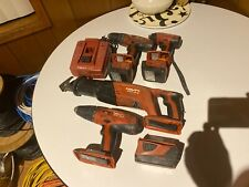 HILTI 18V And 14.4 Volt Sets Impact Driver and Hammer Drill And Saw