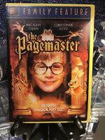 THE PAGEMASTER - FAMILY FEATURE DVD MACAULAY CULKIN. Great Yellow Case! Like New