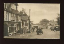 Surey HINDHEAD Village scene Early MotorBus at bus stop 1921 PPC