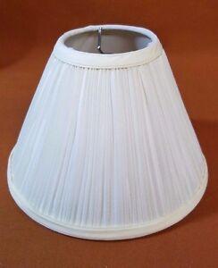 "Lamp Shade Pleated Ivory/Cream  3.25"" Top; 8"" Bottom; 5.75"" Slant Height NEW"