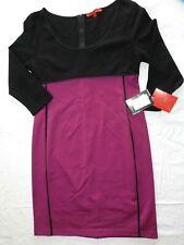 $64 new WOMENS black & purple knit DRESS = NARCISO RODRIGUEZ DesigNation LARGE