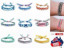 BOHO Adjust Handmade String Cord Woven Braided Bracelet Wristband Friendship 1pc