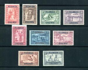 x503 - RUANDA URUNDI 1930 Semi-Postal Set Overprinted Belgian Congo MNH #B3-B11