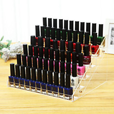"Cq acrylic 48 Bottles of 6 Layers Nail Polish Rack-Clear Display 11.5x9.5x7.5"""